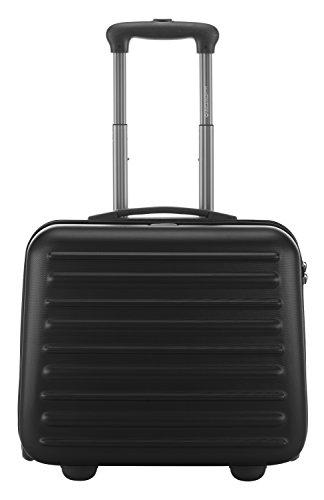 HAUPTSTADTKOFFER - Tegel - Pilotentrolley Hartschalenkoffer Koffer Handgepäck Trolley Rollkoffer, TSA, 38 cm, 32 Liter, Schwarz - 3
