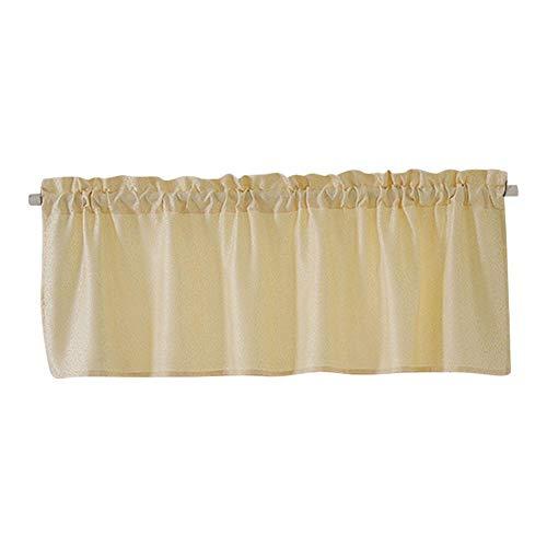 Furnoor Kurzer Vorhang Eleganter einfarbiger, lichtdichter Jacquard-Kurzvorhang für Kinderzimmer Kinderzimmer-Vorhang(米色) (Kurze Gardinenstangen Für Windows)