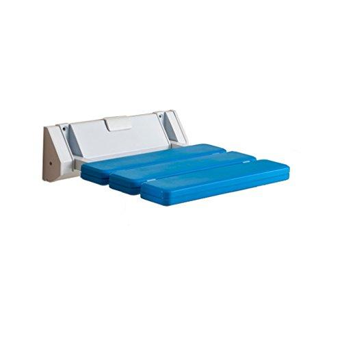 Preisvergleich Produktbild Badezimmer ABS Anti-Rutsch-Bad Bad Hocker Wand-Klappstuhl Ältere / Schwangere Frauen / Behinderte Schuhe Schuh Baden Safe Sitzhocker max. 180kg (blau)