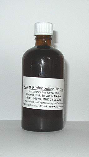 Asvet 100ml Pine Pollen Tinktur, Pinienpollen Tropfen, Konzentrat ohne Chemie, handgemacht, 100% vegan und natürlich !