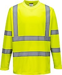 Portwest s178yerxl Herren Hi-Vis Langarm T-Shirt, Regular, Größe Large, Gelb