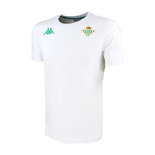 Camiseta de algodón de manga corta - Real Betis Balompié 2018/2019 - Kappa Zoshim Tee - Blanca - Talla 10 años