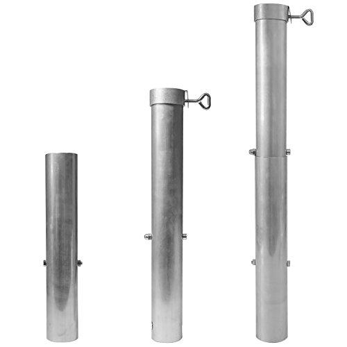 DELSCHEN Aluminium Bodenhülse 60 mm Durchmesser für Sonnenschirme bis ø 58 mm Stammdicke- Art. 8651-049-301 -