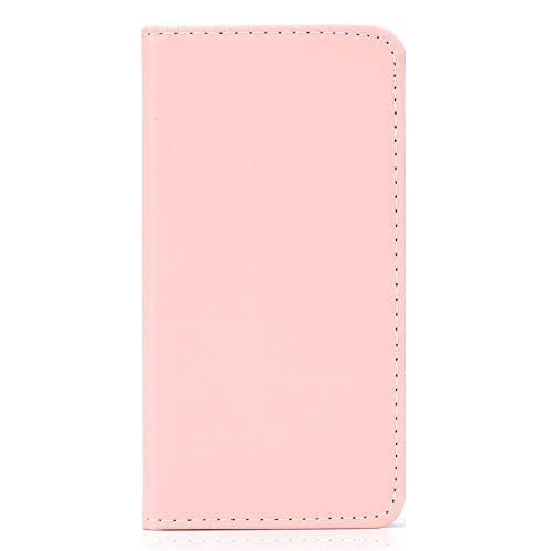 QOSnyDmy Funda para Xiaomi Mi 9 SE, Funda Libro PU Cuero y Silicona TPU Híbrido con Soporte Plegable y Ranuras para Tarjetas Antigolpes para Xiaomi Mi 9 SE (Rosa)