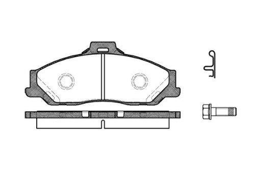 Preisvergleich Produktbild Remsa Bremsbelagsatz für Scheibenbremse,  0730.01