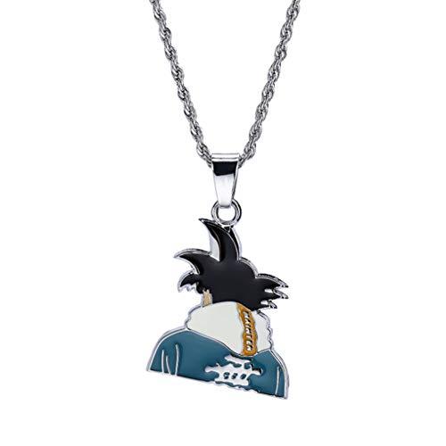 XINGYU personalisierte halsketten,Männer und Frauen Wukong-Halskette Mode Einfach Legierung Überzug Rostfreier Stahl Kette Metall Silber Gold Unisex-Anhänger Schmuck Geschenk, Silver