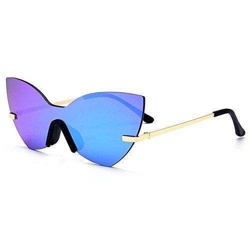 EYES Persönlichkeit Weinlese-Schmetterlings-Form-Einteilige Art-UVschutz-Sonnenbrille für das Fahren im Freien der Frauen draussen (Farbe : F, größe : OneSize)