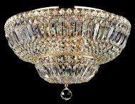 Casa Padrino Barock Kristall Decken Kronleuchter Gold 46 x H 32 cm Antik Stil - Möbel Lüster...