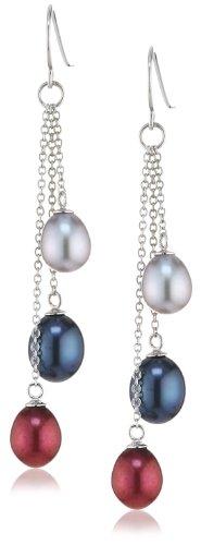 Sakura Pearl - Orecchini pendenti da donna, argento sterling 925, cod. AM 242