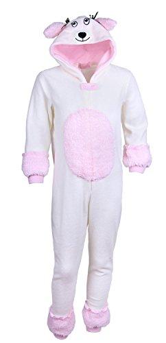 Mädchen CREME Pudel Pajamas Schlafanzüge / Overall / Kostüm / Onesie (3-4 Jahre 104 cm) (Creme Mädchen Kostüm)