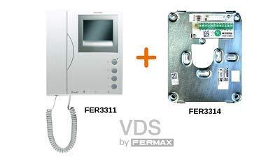 Monitor Loft VDS Blanco Negro 3311 Conector