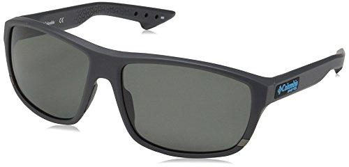 Columbia Men's Airgill Lite Polarized Oval Sunglasses, Matte Shark, 60 mm