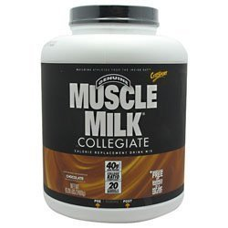 Cytosport - Muscle Milk Genuine Collegiate Calorie Replacement Drink Mix Chocolate - 5.29 lbs. by CYTOSPORT, INC.