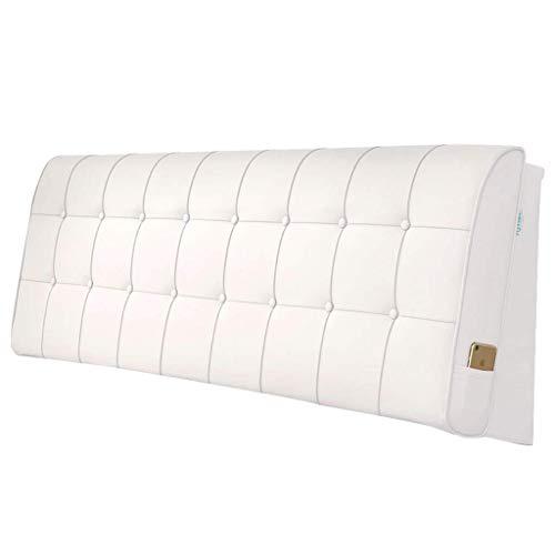 YXLBZ Bett Rückenlehne Kissen Kopfteil Abdeckung Nachttisch Leder weich gepolstert Lendenpolster Kopfstütze, 7 Farben Multi Größen (Farbe : D, größe : 200 * 60 * 10cm.)