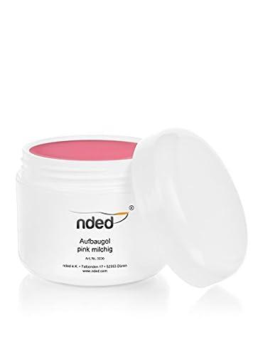 Gel de construction NDED, Rose - lait, viscosité moyenne, DEMVSO 50 ml, moyenne viscosité, rose, adapté UV, sans acide