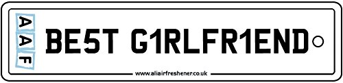 AAF - BEST GIRLFRIEND NUMBER PLATE CAR AIR FRESHENER