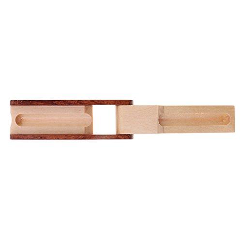 ELECTROPRIME Durable 1pc Wooden Fountain Pen Case Organizer Desktop Accessory Beige
