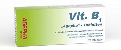 Vitamina B1 AGEPHA Altos dosis 200 mg Tabletas tiamina