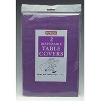 PURPLE Paper Tablecloths 2 per pack (Caroline){90cm x 90cm}