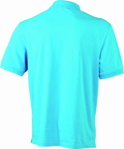 James & Nicholson Herren Poloshirt Aqua/White