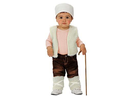 Atosa-50860 Atosa-50860-Disfraz Pastor niño bebé-Talla Navidad, Color Blanco, 6 a 12 Meses (50860)