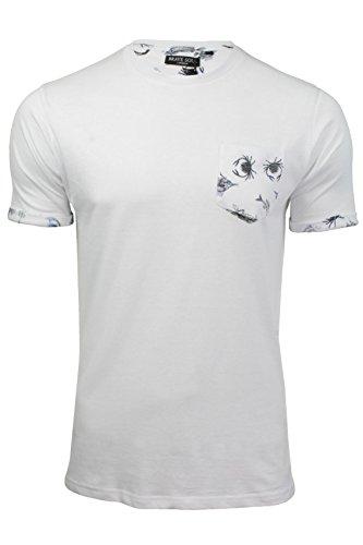 Herren T-Shirt von Brave Soul kurzärmlig Optic Weiß