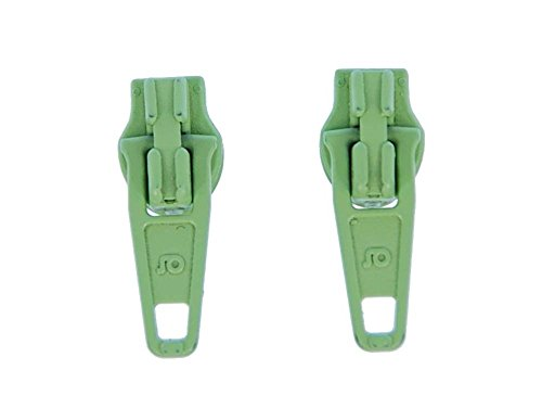 Reißverschluss Zipper Zip Ohrstecker Miniblings Stecker Ohrringe Upcycling Grün