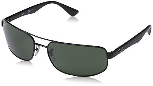 Ray Ban Unisex Sonnenbrille RB3445, (Gestell: schwarz, Gläser: verspiegelt grünverlauf 002/58), X-Large (Herstellergröße: 64)
