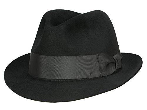 Bigalli Chapeau Trilby Milano Homme - noir