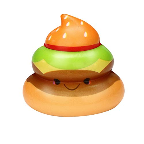 (VENMO Exquisite Spaß Crazy POO Scented Squishy Charme Langsam Steigende 7cm Simulation Kid Spielzeug Fluffy Slime Spielzeug Kids Locker Floam Schlamm Scented Stress Relief Clay Toy (Random E))