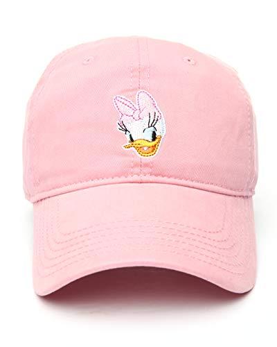 Disney Baseballmütze für Damen, Herren und Jugendliche, Mickey, Minnie, Donald und Daisy Duck - Pink - Einheitsgröße