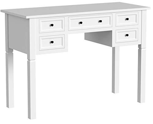 vidaXL Schreibtisch mit 5 Schubladen Konsolentisch Arbeitstisch Computertisch