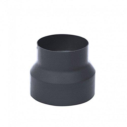 kleinerung, Ø 150 mm auf Ø 130 mm, hitzebeständige Senotherm-Beschichtung, Verkleinerungsstück für Abzugsrohre von Öfen, Kaminen und Schornsteinen, EN1856-2 Standard, Gusseisen, Grau ()