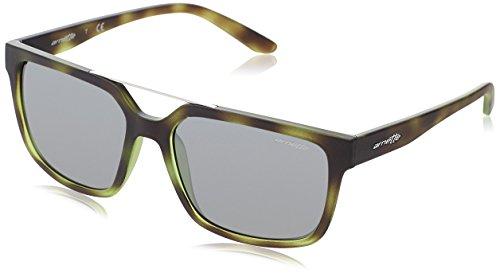Arnette 0an4231 24286g, occhiali da sole uomo, verde (green havana rubber/grey), 57