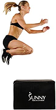 "Sunny Health & Fitness Unisex Adult NO. 085 3 In 1 Weighted Pro-plyo Box With Height Adjustment (30""/"