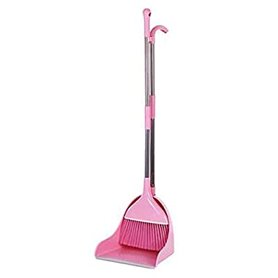 Alien Storehouse Durable Removable Broom und Dustpan Standing Upright Griffe Sweep Set mit Langem Griff, B4