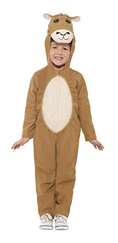 Großbritannien Weihnachtsmann Kostüm Kinder - Smiffys 21825S - Kinder Unisex Kamel Kostüm, Alter 4-6 Jahre, One Size, braun