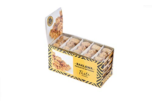Taste Shukran, Baklawa Snack Surtido de dulce - 20 Snack (c/u 3 pasteles) de 60 Gr - Total 1200 gr