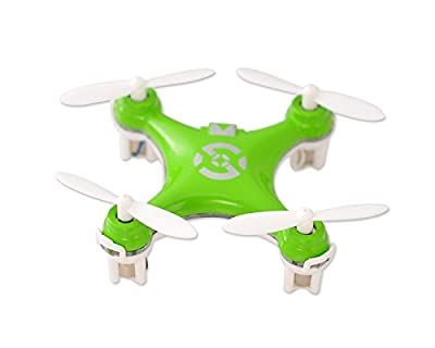 "Cheerson CX-10 1.6"" Mini Toy 2.4G 4CH 6 Axis Gyro 3D Flip LED RC Quadcopter Ready to Fly RTF Drone - Green (29mm Diameter Propeller) Best Gift for Valentine Birthday Christmas Thanksgiving"