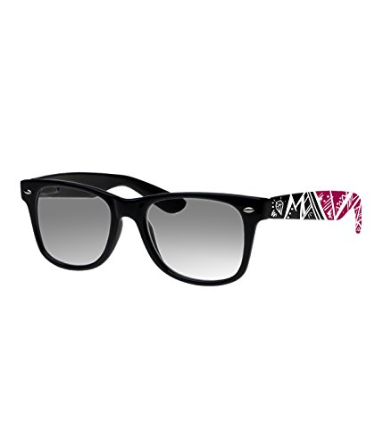 Rockacoca Unisex (Damen Herren) Sonnenbrille mit Design UV400 - Unisex sunglasses with Handpainted Black&Pink Design