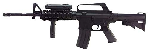 Well - Réplique Airsoft à Ressort- M16A4 Style M4 RIS 0,5 Joule avec Accessoires