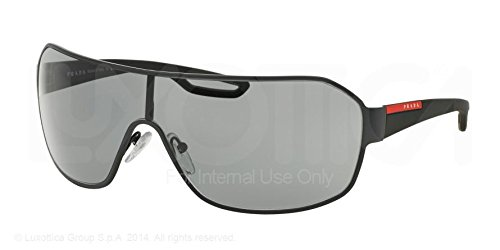 Prada Linea Rossa Herren Sonnenbrille PS52QS, Grau (Rubber Grey TIG3C2),  One Size 91cad8f86667