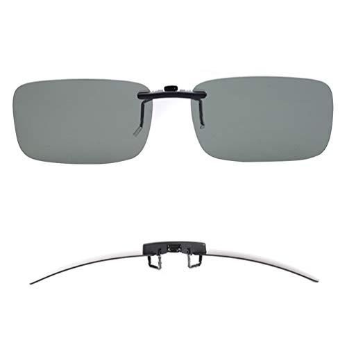 d0686d731a Polarized Clip-on Sunglasses Over Prescription Glasses Anti-Glare UV403 for  Men Women Driving