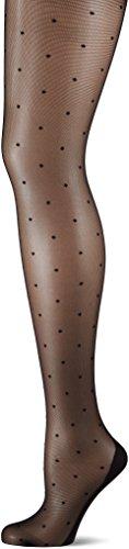 KUNERT Strumpfhose mit Punkten und Naht, 358410 Raffinesse Dots, 20 DEN, Schwarz (Black 0500), Gr. 40/42