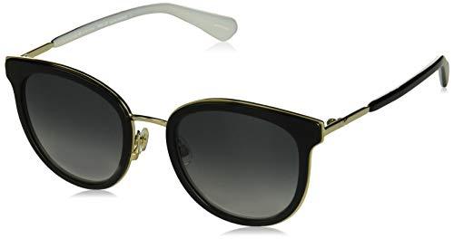 Kate Spade Women's Adayna/f/s Round Sunglasses Black & White 52 mm