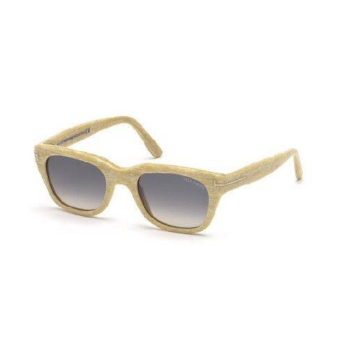 Tom Ford Für Mann 0237 Snowdon Yellow Horn / Grey Gradient Kunststoffgestell Sonnenbrillen