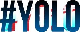 Mister Merchandise Tasche Yolo - You Only Live Once Stofftasche , Farbe: Schwarz Schwarz