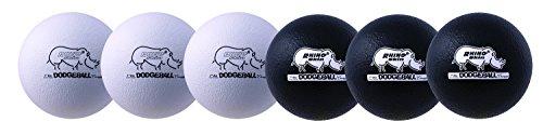 Champion Sports Rhino Skin geringer rücksprung Dodgeball, Sets, Unisex - Erwachsene, 7 inch Rhino Skin Dodgeball Set Black/White, schwarz/weiß, 7