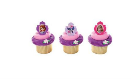 Preisvergleich Produktbild Sofia the First Princess cupcake rings (24) party favor cake topper 2 dozen
