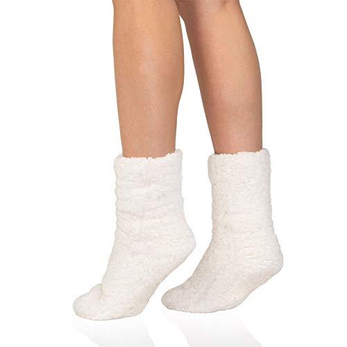 MR Goods Hüttensocken - Stoppersocken Kuschelsocken - Rutschfeste ABS Dicke Socken Damen und Mädchen - Extra Warm und Flauschig